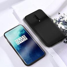 OnePlus 7T Pro 5G用360度 フルカバー極薄ソフトケース シリコンケース 耐衝撃 全面保護 バンパー S03 OnePlus ブラック