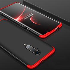OnePlus 7T Pro用ハードケース プラスチック 質感もマット 前面と背面 360度 フルカバー P01 OnePlus レッド・ブラック