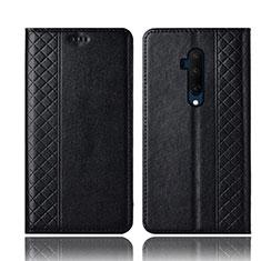 OnePlus 7T Pro用手帳型 レザーケース スタンド カバー T01 OnePlus ブラック