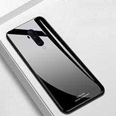 OnePlus 7T Pro用ハイブリットバンパーケース プラスチック 鏡面 カバー T01 OnePlus ブラック
