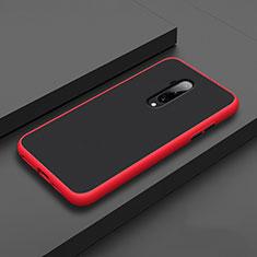 OnePlus 7T Pro用ハイブリットバンパーケース プラスチック 兼シリコーン カバー R01 OnePlus レッド