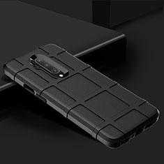OnePlus 7T Pro用360度 フルカバー極薄ソフトケース シリコンケース 耐衝撃 全面保護 バンパー C02 OnePlus ブラック