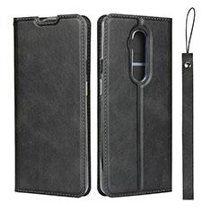 OnePlus 7T Pro用手帳型 レザーケース スタンド カバー T04 OnePlus ブラック