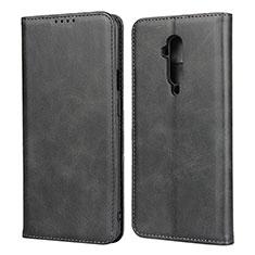OnePlus 7T Pro用手帳型 レザーケース スタンド カバー T06 OnePlus ブラック