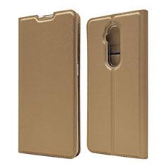 OnePlus 7T Pro用手帳型 レザーケース スタンド カバー T07 OnePlus ゴールド