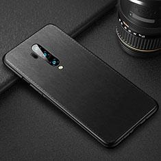 OnePlus 7T Pro用ケース 高級感 手触り良いレザー柄 R02 OnePlus ブラック