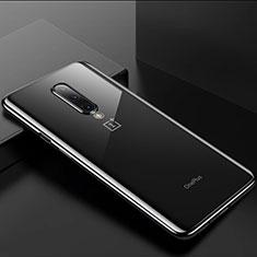OnePlus 8用極薄ソフトケース シリコンケース 耐衝撃 全面保護 クリア透明 H01 OnePlus ブラック