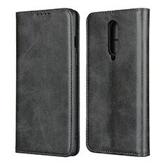 OnePlus 8用手帳型 レザーケース スタンド カバー T06 OnePlus ブラック