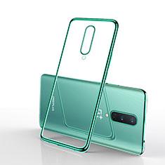 OnePlus 8用極薄ソフトケース シリコンケース 耐衝撃 全面保護 クリア透明 S01 OnePlus グリーン