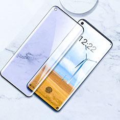 OnePlus 8用強化ガラス フル液晶保護フィルム アンチグレア ブルーライト F02 OnePlus ブラック