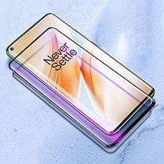 OnePlus 8用強化ガラス フル液晶保護フィルム アンチグレア ブルーライト F03 OnePlus ブラック
