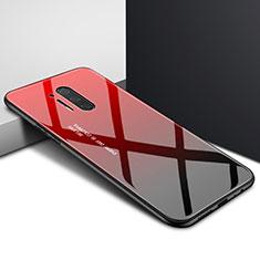OnePlus 8 Pro用ハイブリットバンパーケース プラスチック パターン 鏡面 カバー OnePlus レッド