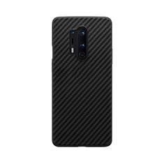 OnePlus 8 Pro用シリコンケース ソフトタッチラバー ツイル B02 OnePlus ブラック