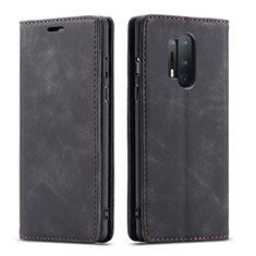 OnePlus 8 Pro用手帳型 レザーケース スタンド カバー T10 OnePlus ブラック
