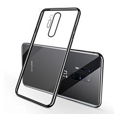 OnePlus 8 Pro用極薄ソフトケース シリコンケース 耐衝撃 全面保護 クリア透明 S01 OnePlus ブラック
