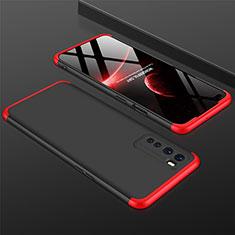 OnePlus Nord用ハードケース プラスチック 質感もマット 前面と背面 360度 フルカバー OnePlus レッド・ブラック