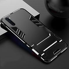 OnePlus Nord用ハイブリットバンパーケース スタンド プラスチック 兼シリコーン カバー OnePlus ブラック