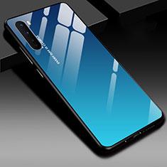 OnePlus Nord用ハイブリットバンパーケース プラスチック 鏡面 カバー OnePlus ネイビー