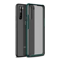OnePlus Nord用ハイブリットバンパーケース プラスチック 兼シリコーン カバー OnePlus モスグリー