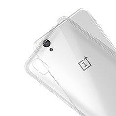 OnePlus X用極薄ソフトケース シリコンケース 耐衝撃 全面保護 クリア透明 R01 OnePlus クリア