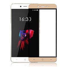 OnePlus X用強化ガラス フル液晶保護フィルム OnePlus ゴールド