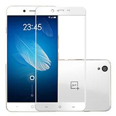 OnePlus X用強化ガラス フル液晶保護フィルム OnePlus ホワイト