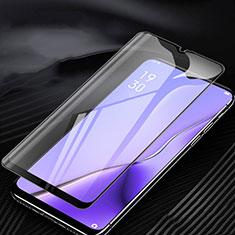 Oppo A11X用強化ガラス フル液晶保護フィルム アンチグレア ブルーライト Oppo ブラック
