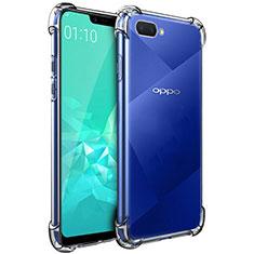 Oppo A12e用極薄ソフトケース シリコンケース 耐衝撃 全面保護 クリア透明 カバー Oppo クリア