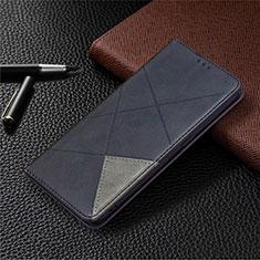 Oppo A15用手帳型 レザーケース スタンド カバー Oppo ブラック