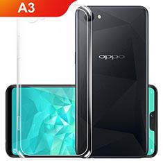 Oppo A3用極薄ソフトケース シリコンケース 耐衝撃 全面保護 クリア透明 カバー Oppo クリア
