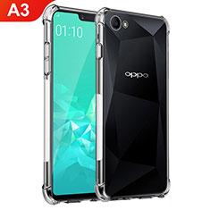 Oppo A3用極薄ソフトケース シリコンケース 耐衝撃 全面保護 クリア透明 T02 Oppo クリア