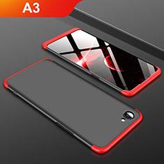 Oppo A3用ハードケース プラスチック 質感もマット 前面と背面 360度 フルカバー Oppo レッド・ブラック