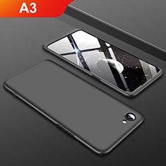 Oppo A3用ハードケース プラスチック 質感もマット 前面と背面 360度 フルカバー Oppo ブラック
