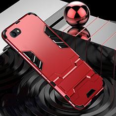 Oppo A3用ハイブリットバンパーケース スタンド プラスチック 兼シリコーン カバー Oppo レッド