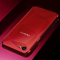 Oppo A3用極薄ソフトケース シリコンケース 耐衝撃 全面保護 クリア透明 H02 Oppo レッド