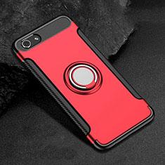 Oppo A3用ハイブリットバンパーケース プラスチック アンド指輪 兼シリコーン カバー Oppo レッド