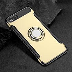 Oppo A3用ハイブリットバンパーケース プラスチック アンド指輪 兼シリコーン カバー Oppo ゴールド