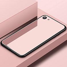 Oppo A3用ハイブリットバンパーケース プラスチック 鏡面 カバー Oppo ローズゴールド