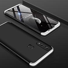 Oppo A31用ハードケース プラスチック 質感もマット 前面と背面 360度 フルカバー Oppo シルバー・ブラック
