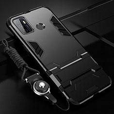 Oppo A33用ハイブリットバンパーケース スタンド プラスチック 兼シリコーン カバー A01 Oppo ブラック