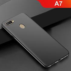 Oppo A7用極薄ソフトケース シリコンケース 耐衝撃 全面保護 S02 Oppo ブラック
