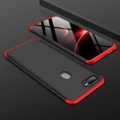 Oppo A7用ハードケース プラスチック 質感もマット 前面と背面 360度 フルカバー Oppo レッド・ブラック
