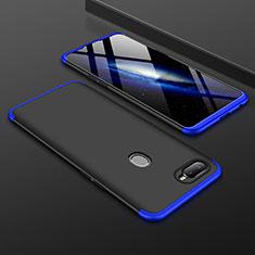 Oppo A7用ハードケース プラスチック 質感もマット 前面と背面 360度 フルカバー Oppo ネイビー・ブラック