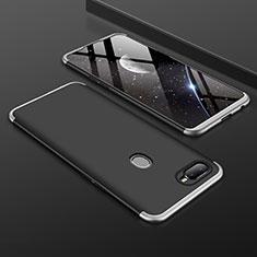 Oppo A7用ハードケース プラスチック 質感もマット 前面と背面 360度 フルカバー Oppo シルバー