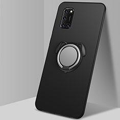 Oppo A72用極薄ソフトケース シリコンケース 耐衝撃 全面保護 アンド指輪 マグネット式 バンパー A05 Oppo ブラック