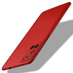 Oppo A72用ハードケース プラスチック 質感もマット カバー M01 Oppo レッド