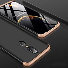 Oppo A9用ハードケース プラスチック 質感もマット 前面と背面 360度 フルカバー Oppo ゴールド・ブラック