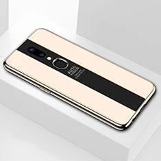 Oppo A9用ハイブリットバンパーケース プラスチック 鏡面 カバー M01 Oppo ゴールド