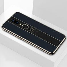 Oppo A9用ハイブリットバンパーケース プラスチック 鏡面 カバー M01 Oppo ブラック