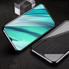 Oppo A9用ケース 高級感 手触り良い アルミメタル 製の金属製 360度 フルカバーバンパー 鏡面 カバー Oppo ブラック